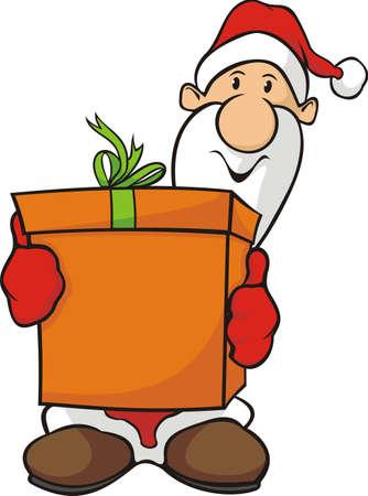santa claus and gift Stock Vector - 16053945