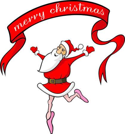 pirouette: dancing santa claus - merry christmas