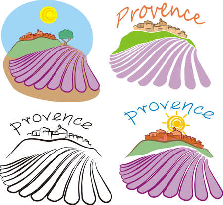 country side: provence - historical land of france Illustration