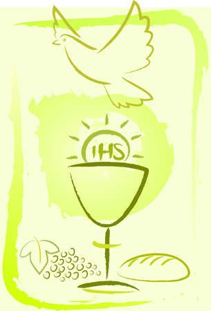 premi�re communion: la sainte communion - fond