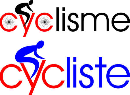 cycling, cyclist in french Stock Vector - 16438900