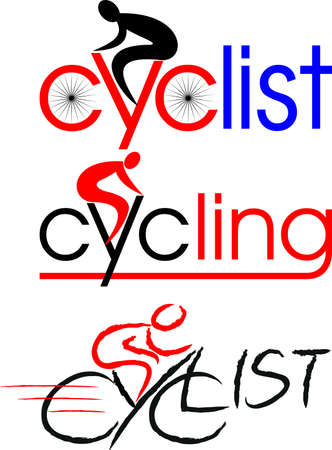 cyclist, cycling, bike Vector