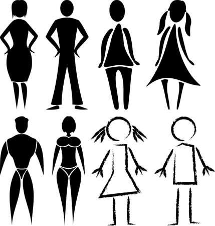 WC - mężczyzna i kobieta znaki Zdjęcie Seryjne - 16438906