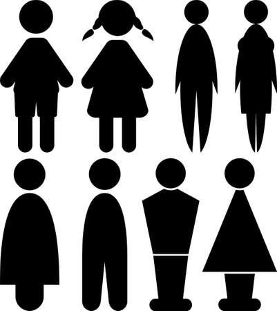 mannen en vrouwen tekenen - toilet
