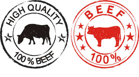 beef cattle: beef - label