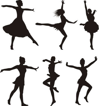 dance silhouette - woman Vector