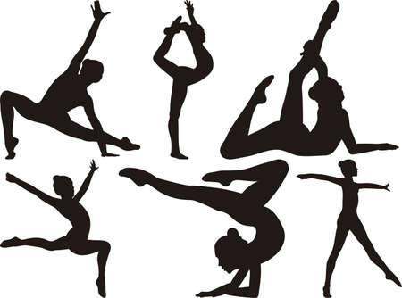 gymnastique: gymnastique et de remise en forme Illustration