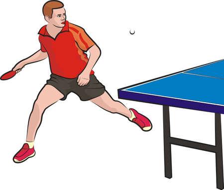ping pong: tenis de mesa - jugador