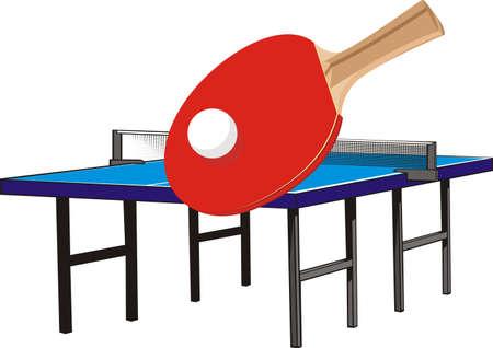 tischtennis: Tischtennis - Geräte Illustration