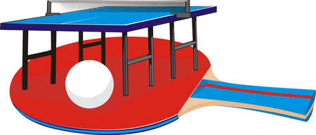 table tennis - equipment Vector