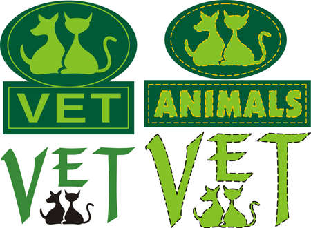 animal shelter: vet emblem