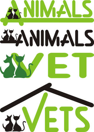 vet, animals - cat and dog Vector