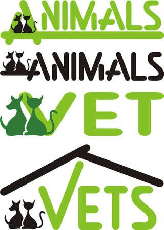 veterinary medicine: vet, animals - cat and dog