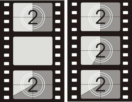 film tape: film reel background - movie frames