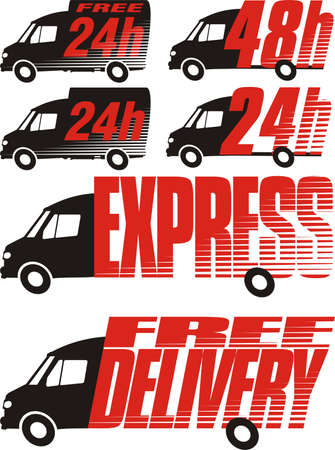 delivery icon - shipping Vector