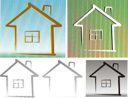 friedly house - background and isolated Vector