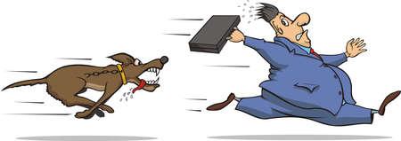 bad dog: beware of the dog Illustration