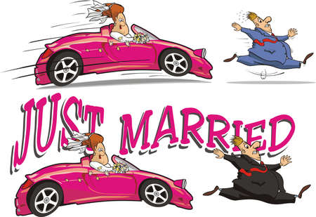 just married Stock Vector - 17092646