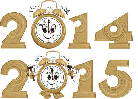 new year's: new year s clock