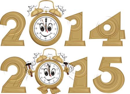 nieuwe jaar klok van