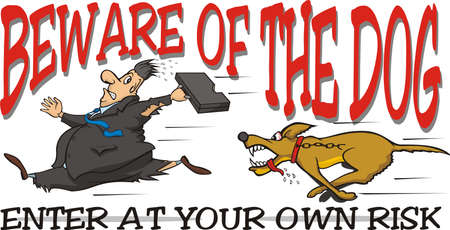 angry dog: beware of the dog Illustration