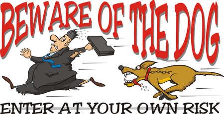 perro furioso: cuidado con el perro Vectores