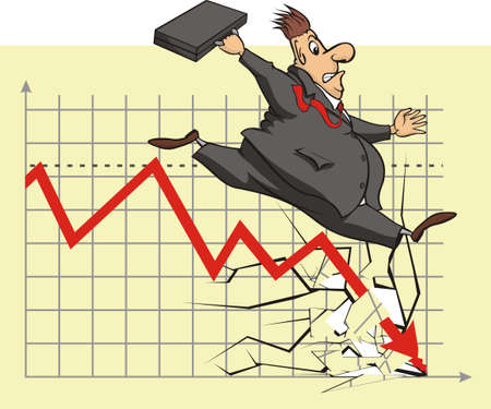 waste money: unhappy stock market investor