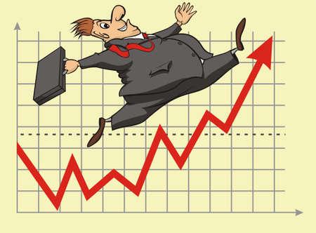 lucky stock market investor Stock Vector - 17449065