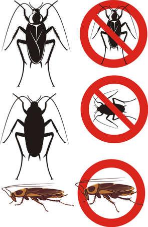 kakkerlak - waarschuwingsborden Stock Illustratie