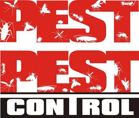 pesticida: control de plagas - insectos Vectores