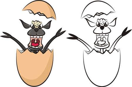 frighten: surprise egg