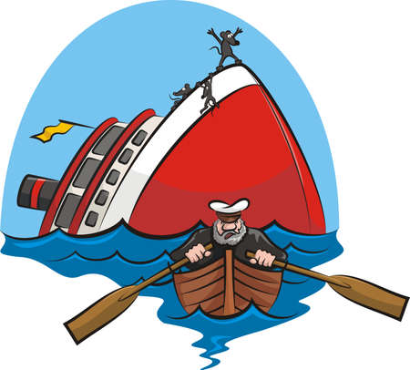 castaway: captain coward Illustration