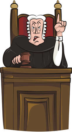 sentencing judge Stock Vector - 18520166