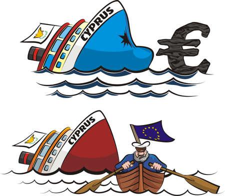 Cypriot financial crisis Stock Vector - 18649778