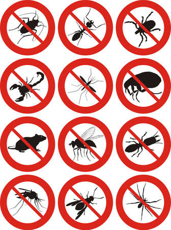 szkodniki icon - zwalczanie szkodników Ilustracje wektorowe