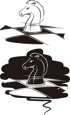 chess knight: scacchi cavaliere Vettoriali