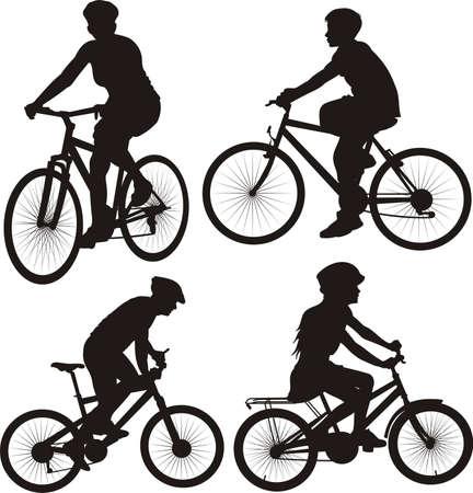 bike, cyclist - icon