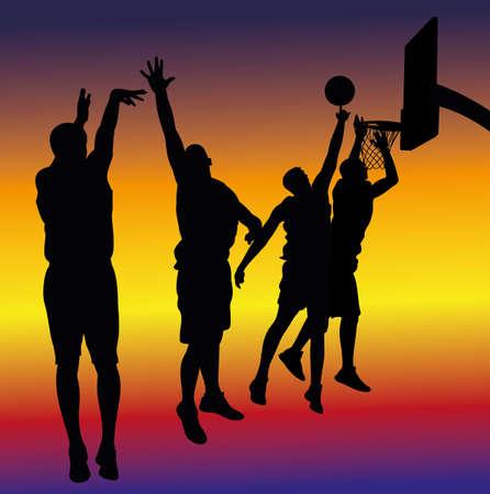 basketball shot: street basketball - background