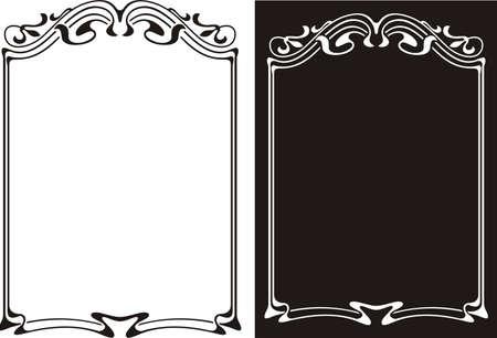 art deco frame, ornamental border