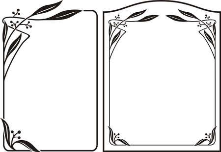 アールデコ フレーム - アール ヌーボーの境界線  イラスト・ベクター素材