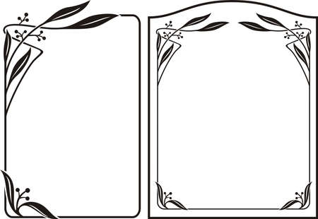art flower: art deco frame - art nouveau border Illustration