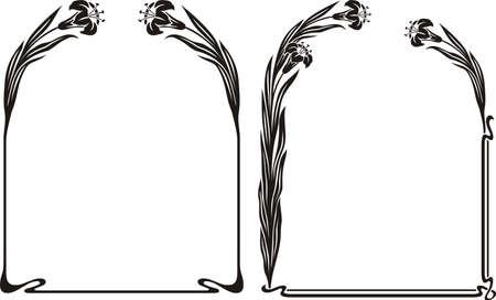 isolated irises: art deco iris frame