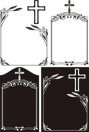funeral: obituary or memorial plague - art deco