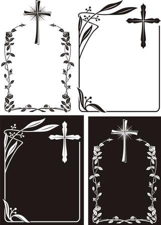 захоронение: некролог или мемориал чума - арт-деко Иллюстрация