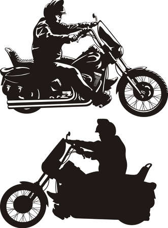 easy rider - man on a bike Vector