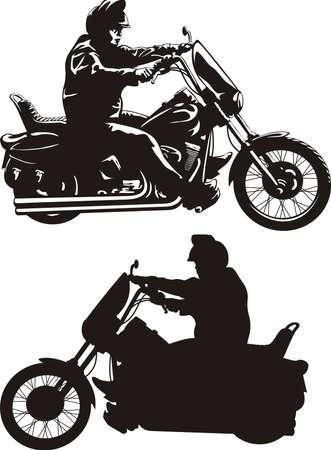 easy rider - man on a bike