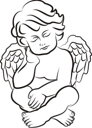 sleeping little angel Illustration