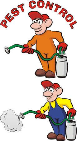 pesticide: pest exterminator, pest control Illustration