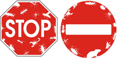 pest control stop signs Vector