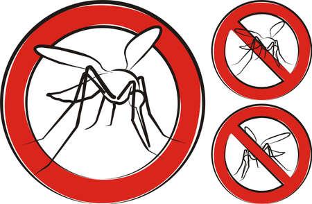 pesticida: mosquito - se�al de advertencia